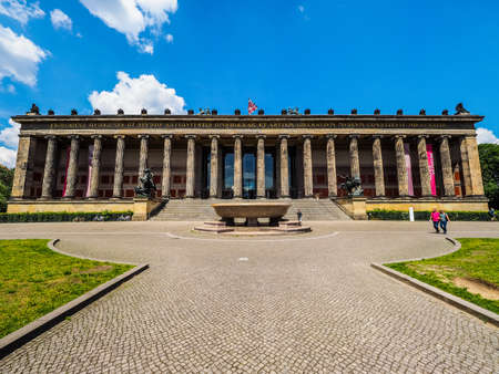 antiquities: BERLIN, GERMANY - CIRCA JUNE 2016: Altes Museum (meaning Museum of Antiquities) in Museumsinsel (meaning Museums Island) (HDR)