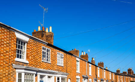 A row of typically British terraced houses aka townhouse (HDR) Editorial