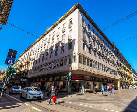 ceska: TURIN, ITALY - CIRCA MAY 2016: Store of Czech shoes company Bata in Via Garibaldi (HDR) Editorial