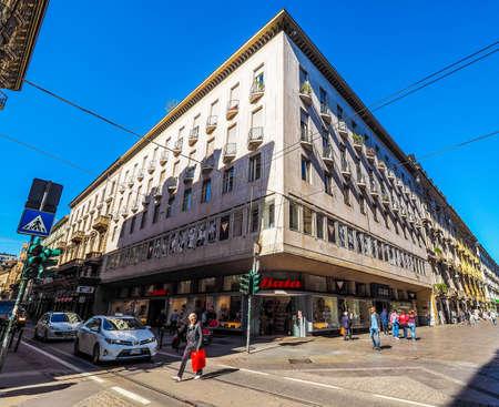 via: TURIN, ITALY - CIRCA MAY 2016: Store of Czech shoes company Bata in Via Garibaldi (HDR) Editorial