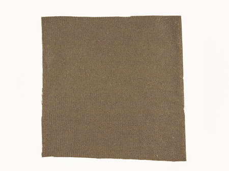 swatch: Vintage looking Brown fabric swatch over white background Stock Photo