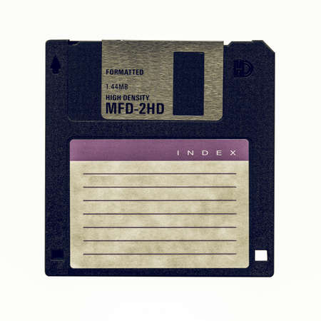 diskette: Vintage looking Floppy Disk magnetic computer data storage support