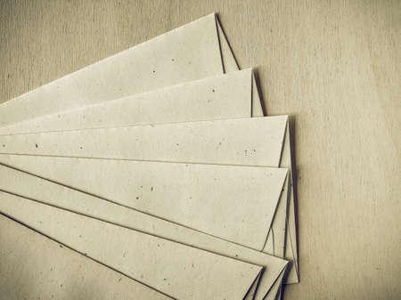 letter envelopes: Vintage looking Letter envelopes for mail postage on wooden table