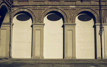 arcades: Vintage looking Ancient wall with arcades useful as a background