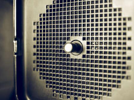 tuner: Vintage looking Loudspeaker of vintage radio tuner Stock Photo
