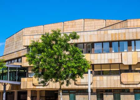 LEIPZIG, GERMANY - JUNE 12, 2014: The Neues Gewandhaus new concert hall in Augustusplatz home of the Leipzig Gewandhaus Orchestra was designed by architect Rudolph Skoda in 1977 (HDR) Editorial