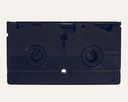 videotape: Vintage looking Vintage videotape VHS video cassette isolated over white