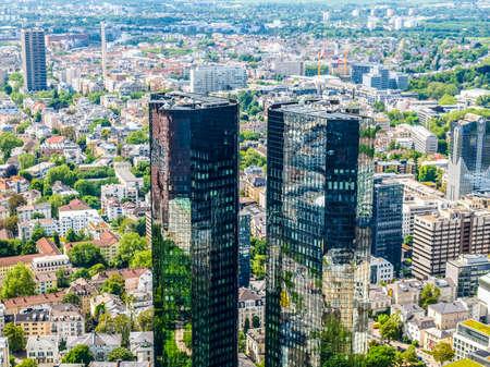 headquarters: FRANKFURT AM MAIN, GERMANY - CIRCA JUNE 2013: The Deutsche Bank headquarters (HDR)