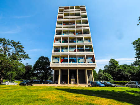 BERLIN, GERMANY - CIRCA JUNE 2016: The Corbusier Haus designed by Le Corbusier in 1957 (HDR) Editorial