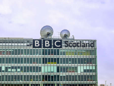 bbc: GLASGOW, SCOTLAND, UK - SEPTEMBER 19: The BBC Scotland tv studios from where the XX Commonwealth Games 2014 will be broadcast worldwide on September 19, 2010 in Glasgow, Scotland, UK (HDR) Editorial