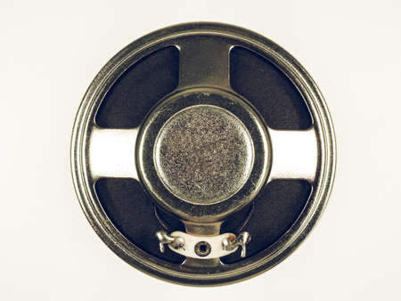 reproductive technology: Vintage looking Loudspeaker for reproduction of sounds such as music and voice Stock Photo