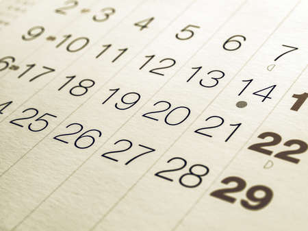 almanac: Vintage looking Detail of a calendar page with dates