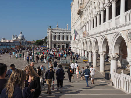 st mark: VENICE, ITALY - CIRCA SEPTEMBER 2016: Piazza San Marco (meaning St Mark square)