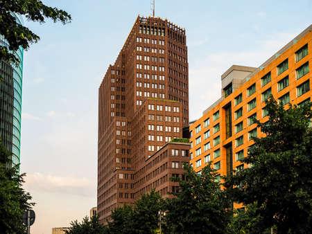 BERLIN, GERMANY - CIRCA JUNE 2016: Kollhoff Tower skyscraper in Potsdamer Platz (HDR) Editorial