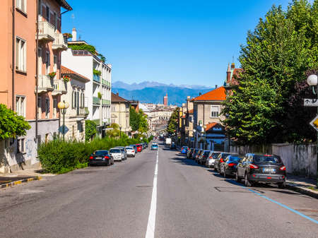 regina: TURIN, ITALY - AUGUST 14, 2014: View of Turin from the hill in Via Villa della Regina Street (HDR)