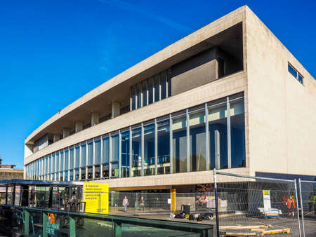 LONDON, UK - SEPTEMBER 28, 2015: The Royal Festival Hall built as part of the Festival of Britain national celebrations in 1951 is still in use as a major music and entertainment venue (HDR)