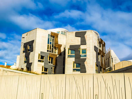scottish parliament: EDINBURGH, SCOTLAND, UK - SEPTEMBER 18, 2010: The new Scottish Parliament (HDR)
