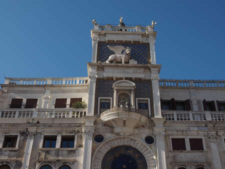 Torre dell Orologio (meaning Clock Tower) in San Marco square in Venice, Italy