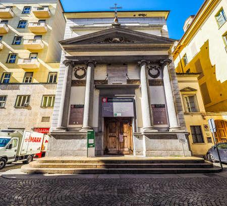 chiesa: TURIN, ITALY - CIRCA MAY 2016: Chiesa della Misericordia church (HDR)