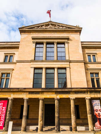 recently: BERLIN, GERMANY - MAY 10, 2014: The Neues Museum in Museumsinsel has been recently restored by British architect David Chipperfield (HDR)