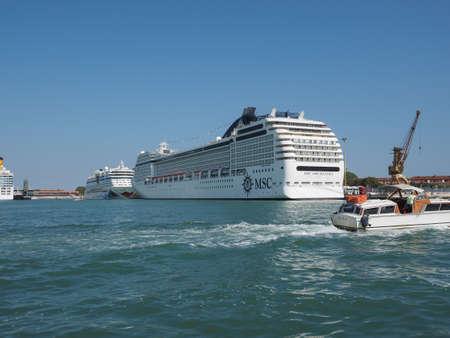 ms: VENICE, ITALY - CIRCA SEPTEMBER 2016: MS MSC Orchestra motor ship
