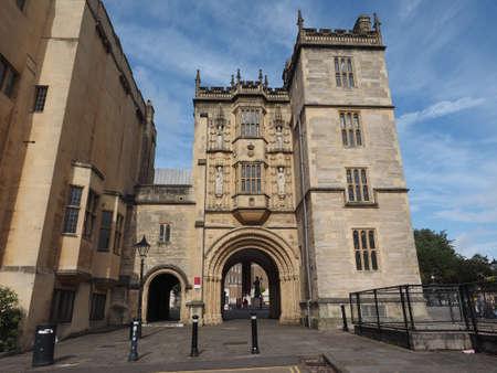 gatehouse: BRISTOL, UK - CIRCA SEPTEMBER 2016: The Great Gatehouse (aka Abbey Gatehouse) Editorial