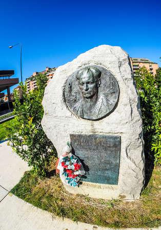 partisan: TURIN, ITALY - CIRCA SEPTEMBER, 2015: Nicola Grosa partisan memorial monument by sculptor Mastroianni (HDR) Editorial