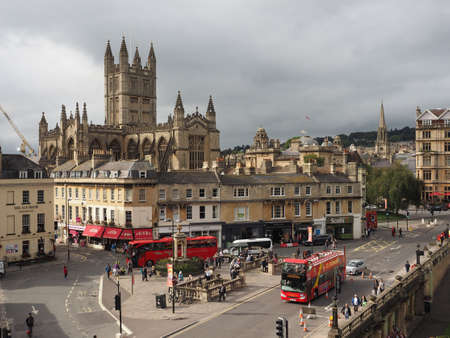 saint peter: BATH, UK - CIRCA SEPTEMBER 2016: The Abbey Church of Saint Peter and Saint Paul (aka Bath Abbey)