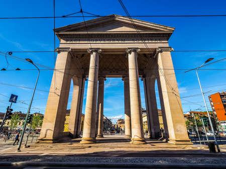 ticinese: MILAN, ITALY - CIRCA APRIL 2016: Porta Ticinese city gate (HDR)