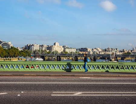 westminster bridge: LONDON, UK - SEPTEMBER 28, 2015: Westminster Bridge over River Thames (HDR) Editorial
