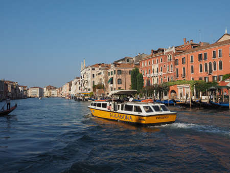grand canal: VENICE, ITALY - CIRCA SEPTEMBER 2016: The Canal Grande (meaning Grand Canal) Editorial
