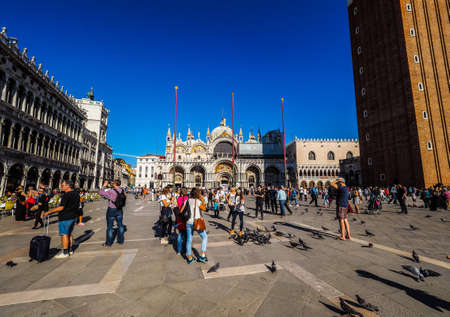 st mark: VENICE, ITALY - CIRCA SEPTEMBER 2016: HDR Piazza San Marco (meaning St Mark square) Editorial