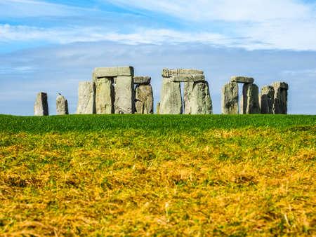 druid: WILTSHIRE, UK - CIRCA SEPTEMBER 2016: HDR Ruins of Stonehenge prehistoric megalithic stone monument