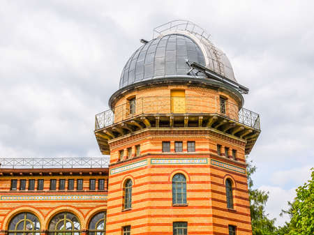 institute: POTSDAM, GERMANY - MAY 10, 2014: Michelson Haus at Leibniz Institute for Astrophysics (HDR)