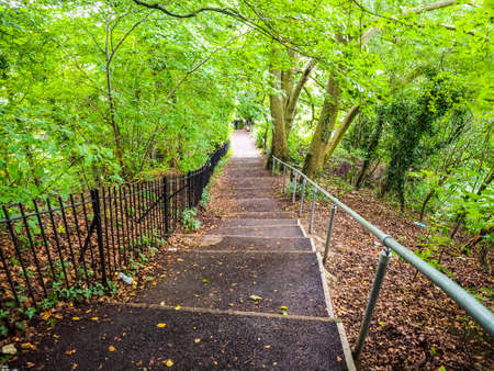 alexandra: HDR Stairway leading to Alexandra Park in Bath, UK