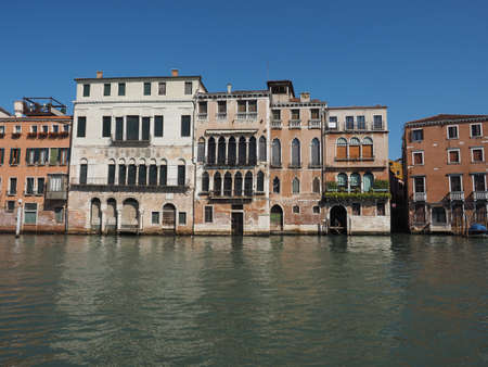 grand canal: The Canal Grande (meaning Grand Canal) in Venice, Italy Stock Photo