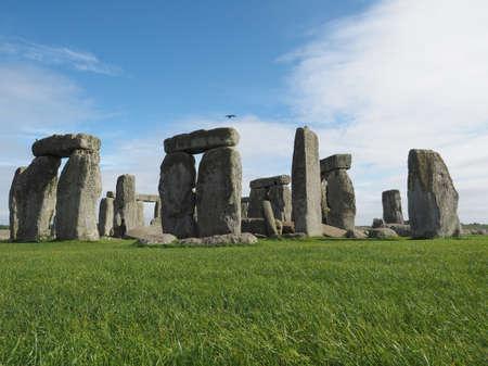 druid: WILTSHIRE, UK - CIRCA SEPTEMBER 2016: Ruins of Stonehenge prehistoric megalithic stone monument
