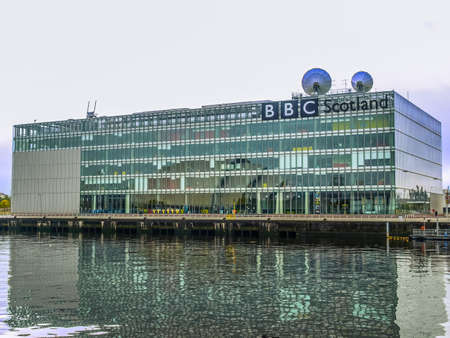 GLASGOW, SCOTLAND, UK - SEPTEMBER 19: The BBC Scotland tv studios from where the XX Commonwealth Games 2014 will be broadcast worldwide on September 19, 2010 in Glasgow, Scotland, UK (HDR) Editorial