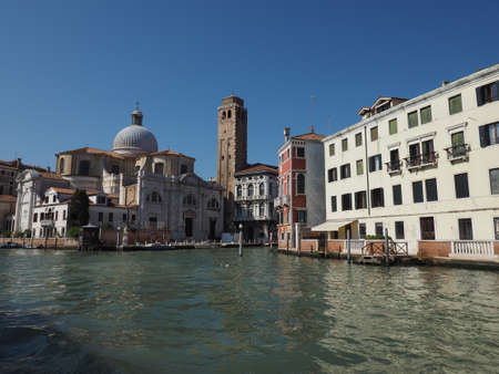 grand canal: The Canal Grande (meaning Grand Canal) in Venice, Italy Editorial