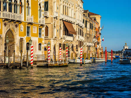 grand canal: VENICE, ITALY - CIRCA SEPTEMBER 2016: HDR The Canal Grande (meaning Grand Canal)
