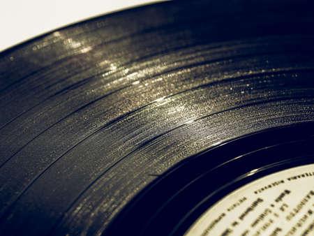 the medium: Vintage looking Vinyl record vintage analog music recording medium Stock Photo