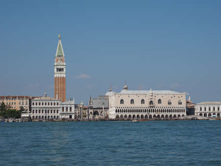 saint mark's: Piazza San Marco (meaning St Mark square) seen from San Marco basin in Venice, Italy