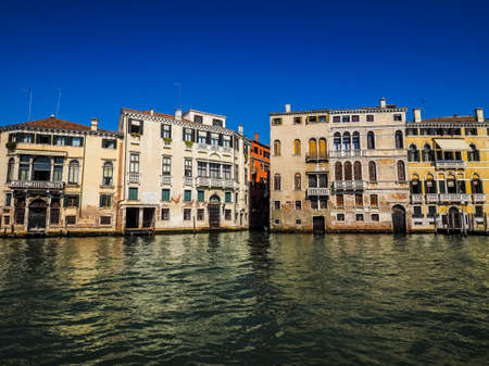 grand canal: HDR The Canal Grande (meaning Grand Canal) in Venice, Italy Stock Photo