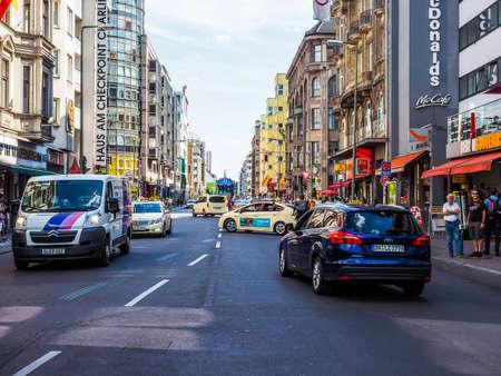 frederick street: BERLIN, GERMANY - CIRCA JUNE 2016: Friedrickstrasse (meaning Frederick Street) (HDR)