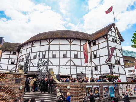 globe theatre: LONDON, UK - JUNE 10, 2015: The Shakespeare Globe Theatre (HDR) Editorial