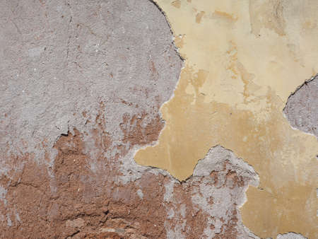 caused: Damage caused by damp and moisture on a wall