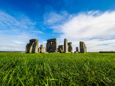 HDR Ruins of Stonehenge prehistoric megalithic stone monument in Wiltshire, England, UK Stock Photo - 65627370