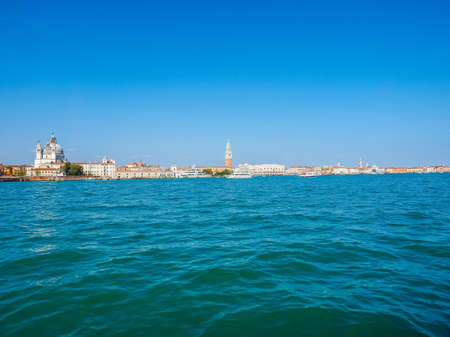 san marco: HDR Piazza San Marco (meaning St Mark square) seen from San Marco basin in Venice, Italy Stock Photo