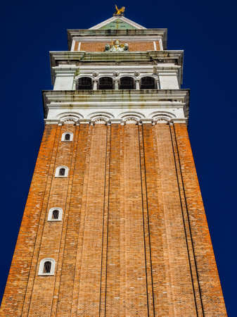 church steeple: HDR Campanile San Marco (meaning St Mark church steeple) in St Mark square in Venice, Italy