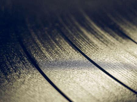 Vintage recherche Détail de disque vinyle (support d'enregistrement de musique)